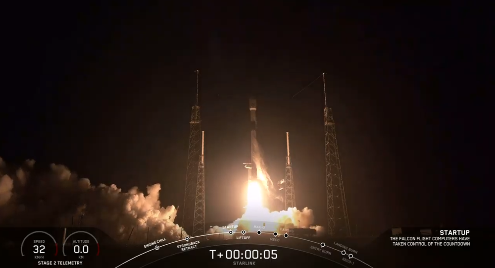 Falcon 9 with 60 Starlink Satellites lifts off from Florida's Cape Canaveral Air Force Station