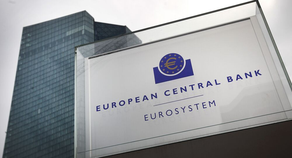 This file photo taken on September 13, 2018 shows the headquarters of the European Central Bank (ECB) in Frankfurt am Main, western Germany.