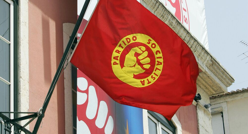 The Portuguese Socialist party flag (File)