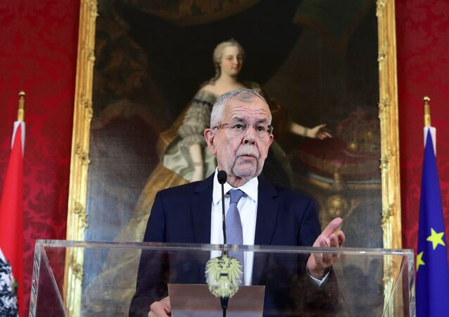Austrian President Alexander Van der Bellen delivers a statement after a no-confidence vote against the government in Vienna, Austria May 27, 2019