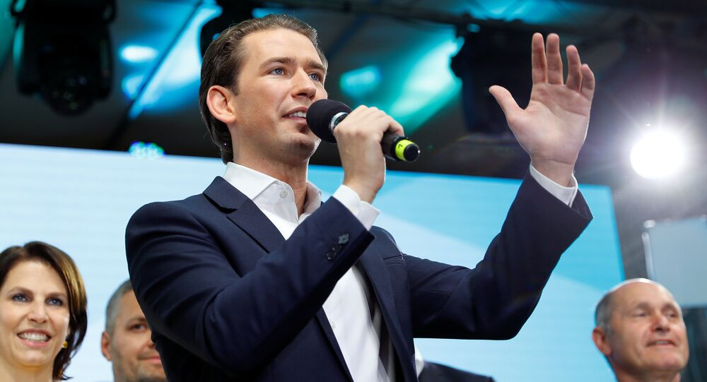 Austrian Chancellor Sebastian Kurz speaks during a meeting after European Parliament elections at the Austrian People's Party (OeVP) headquarters in Vienna, Austria, May 26, 2019