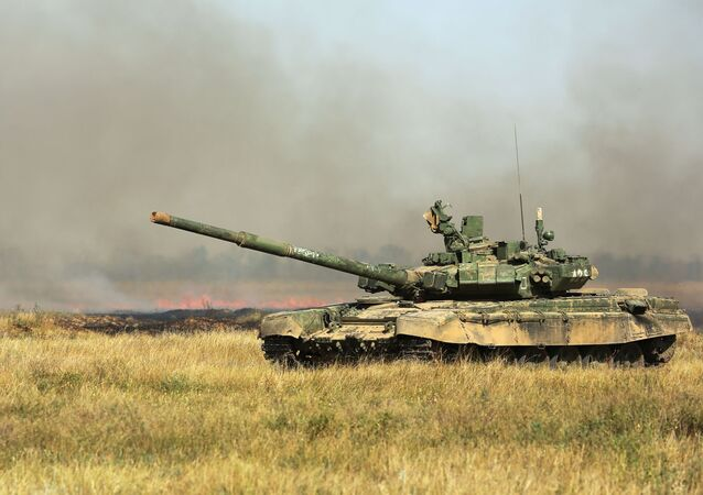 Russian T-72 main battle tank