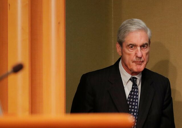US Special Counsel Robert Mueller arrives to make his first public comments on his investigation into Russian interference in the 2016 US presidential election