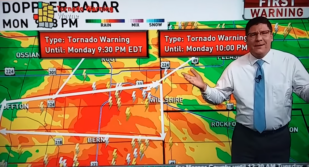 Fox 45 Meteorologist Jamie Simpson gives a stern talking to viewers upset The Bachelorette was interrupted for tornado and severe weather coverage