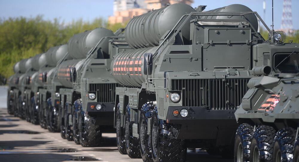 Russian S-400 Triumf surface-to-air missile systems