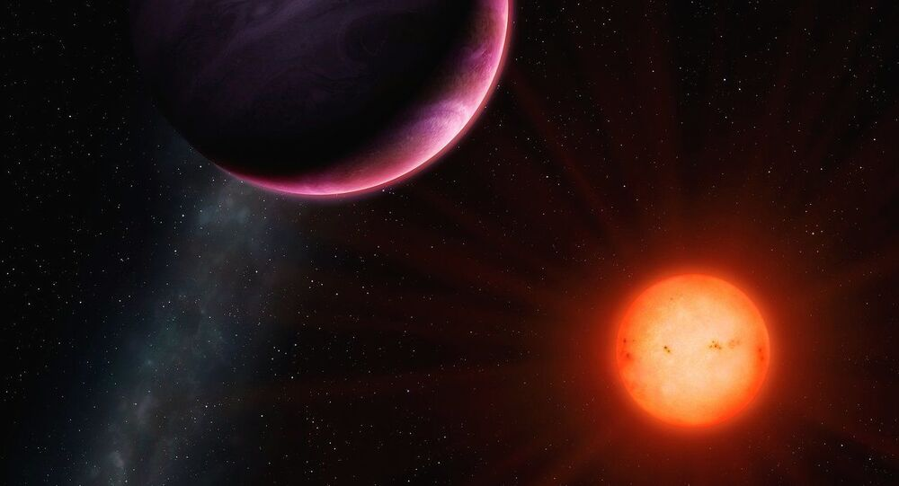 Artist's impression of the planet NGTS-1b