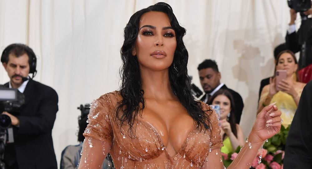 Kim Kardashian arrives for the 2019 Met Gala at the Metropolitan Museum of Art on May 6, 2019, in New York.