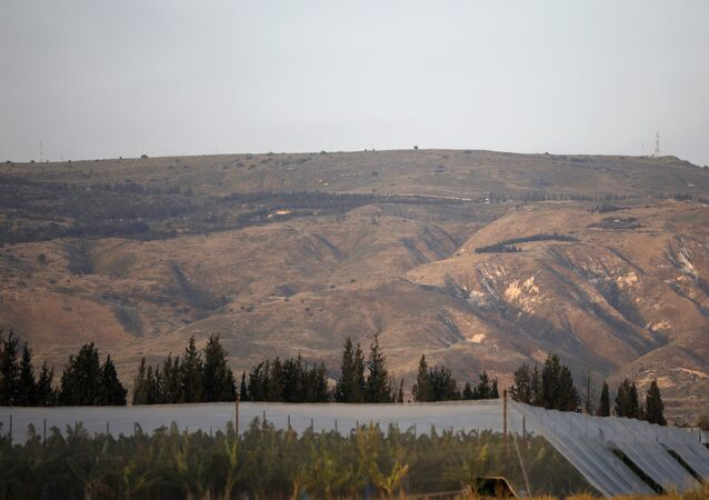 A picture taken on 23 April 2019 shows a general view of the Israeli-annexed Golan Heights, which Israel seized from Syria in the 1967 Six-Day War.
