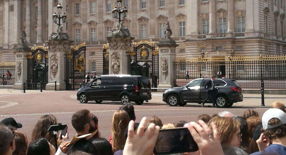 Buckingham Palace before Trump's visit