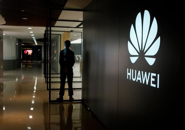 A Huawei company logo is seen at a shopping mall in Shanghai, China on 3 June 2019