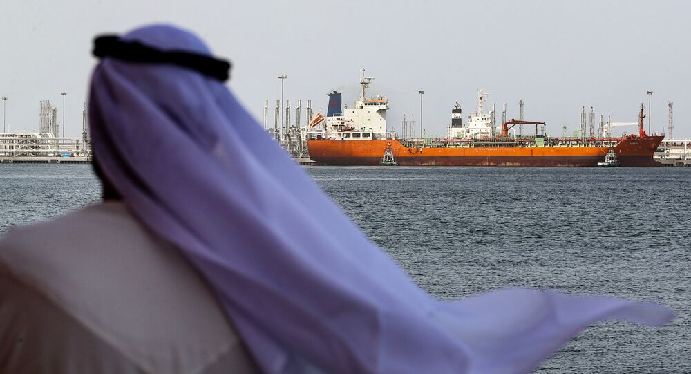 An Emirati man looks on at the port of Fujairah in the Gulf Emirate, on May 13, 2019