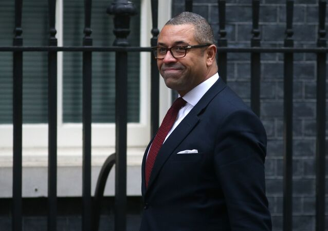 Brexit Minister James Cleverly, who quit the Tory leadership contest on 4 June 2019