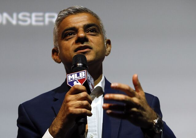 Sadiq Khan the Mayor of London speaking to the media during a press conference in London (File)