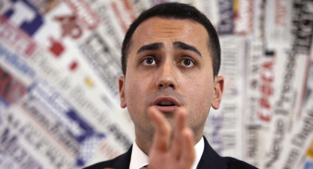 Italy's 5-Star Movement and Italian Low Chamber vice President Luigi Di Maio