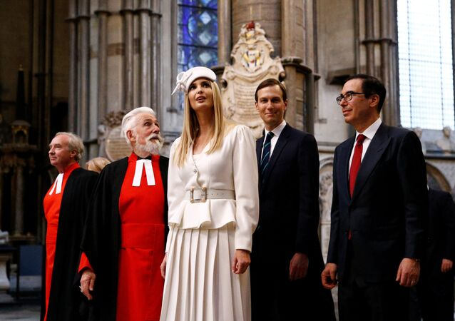 Ivanka Trump and Jared Kushner tour Westminster Abbey as part of a state visit in London, Britain, 3 June, 2019