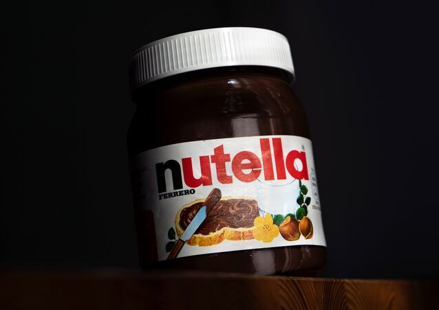 In this file photo taken on February 05, 2019 A pot of the chocolate spread Nutella is pictured in Manta, near Cuneo, Northwestern Italy on Febraury 5, 2019
