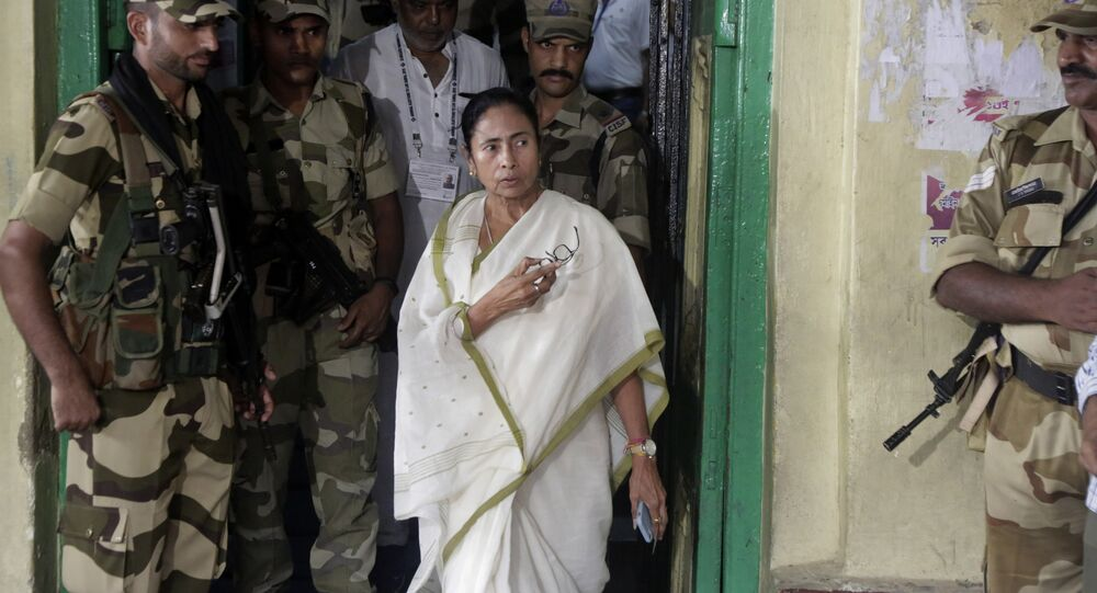 Trinamool Congress party leader and Chief Minister of West Bengal state Mamata Banerjee