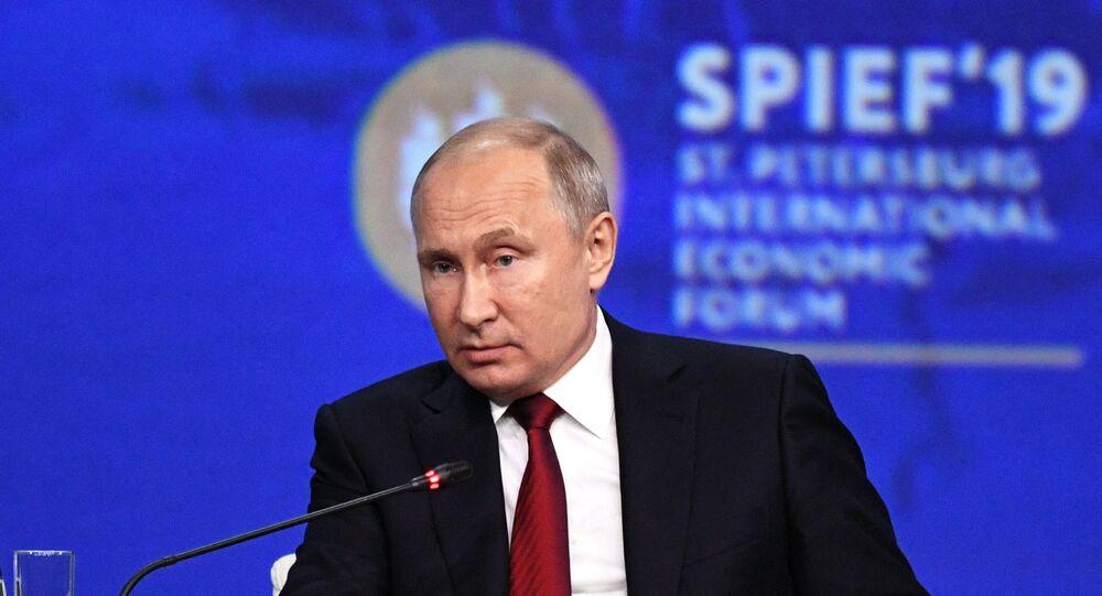 Putin at St. Petersburg International Economic Forum (SPIEF)