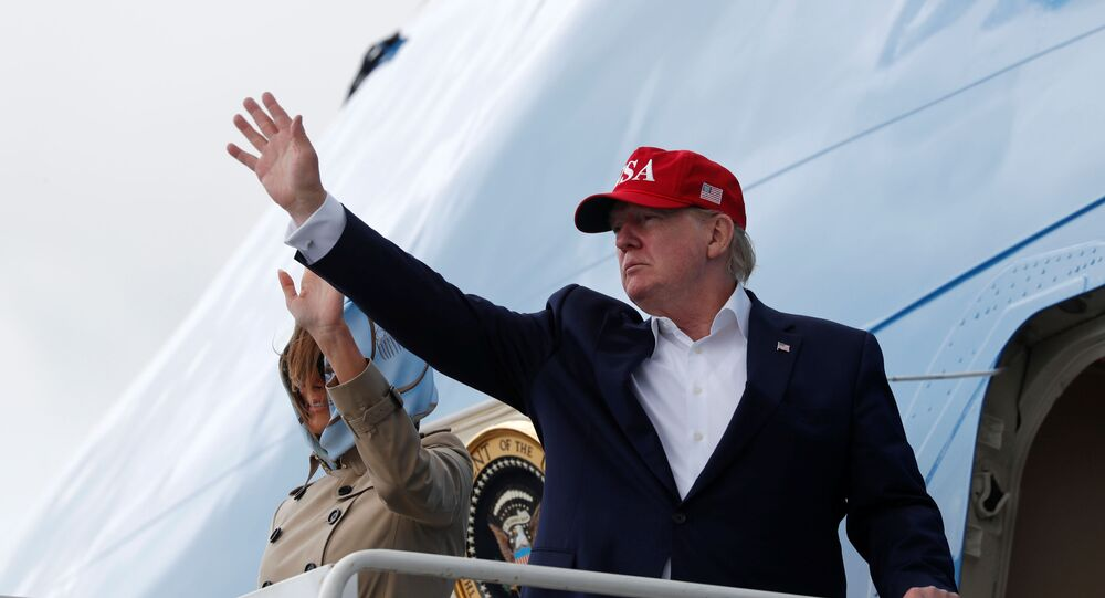 U.S. President Donald Trump and first lady Melania Trump board Air Force One as they depart Shannon international airport en route to Washington, in Shannon, Ireland June 7, 2019. REUTERS/Carlos Barria