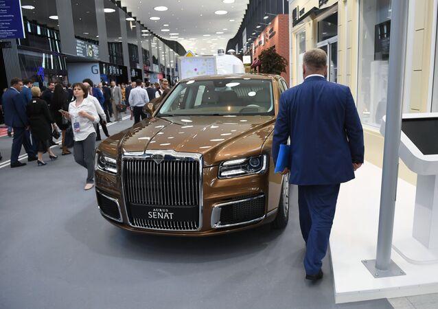 Russian Aurus Senat sedan on SPIEF 2019