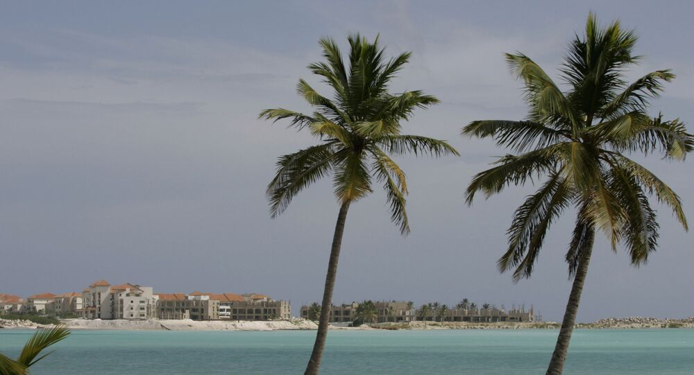 A view of the stalled construction of the Punta Palmera Condominium at the Cap Cana Resort in Punta Cana, Dominican Republic, Saturday, Nov. 15, 2008.