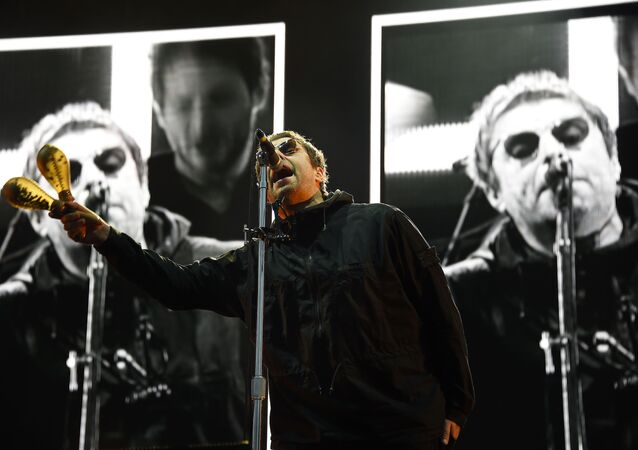 British singer Liam Gallagher performs on stage during the 30th Eurockeennes rock music festival on July 8, 2018 in Belfort, eastern France.