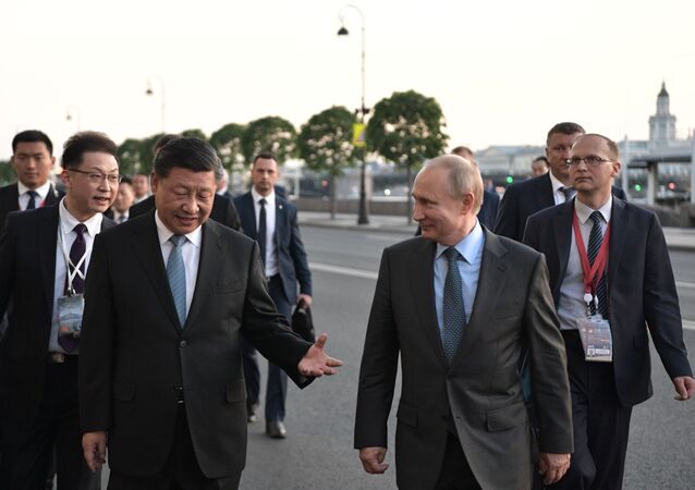 Vladimir Putin, Xi Jinping at SPIEF