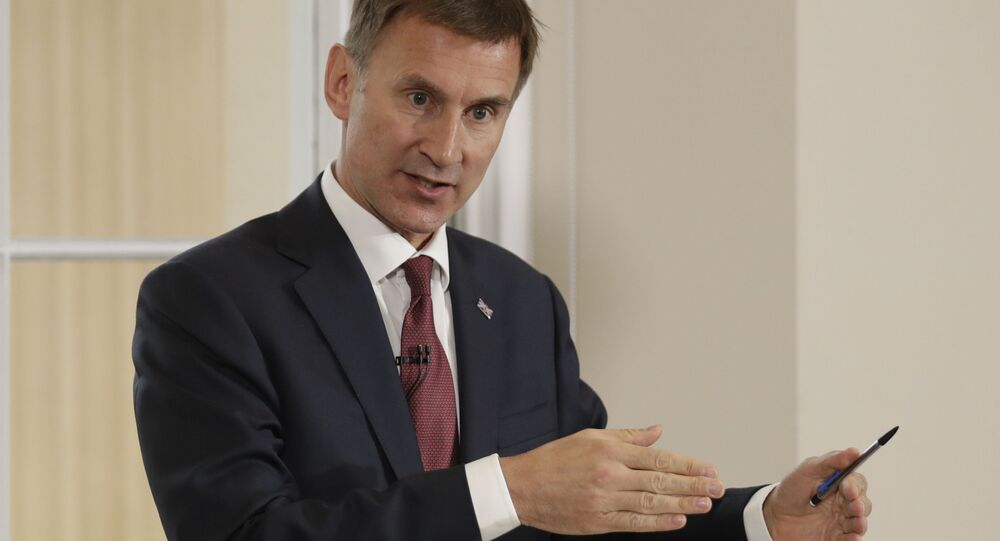 Britain's Foreign Secretary Jeremy Hunt launches his leadership campaign for the Conservative Party in London, Monday June 10, 2019