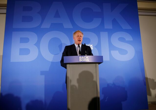 Conservative Party leadership candidate Boris Johnson speaks during the launch of his campaign in London, Britain June 12, 2019.