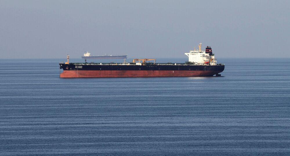 Oil tankers pass through the Strait of Hormuz, December 21, 2018