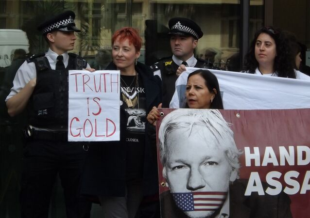 Julian Assange supporters. London. 14.06.2019