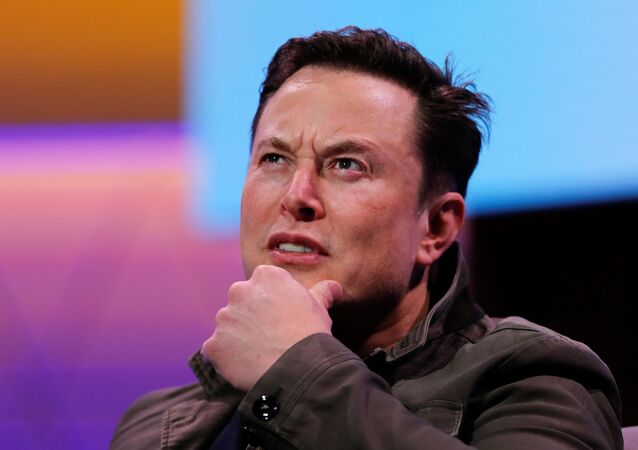 SpaceX owner and Tesla CEO Elon Musk gestures during a conversation with legendary game designer Todd Howard (not pictured) at the E3 gaming convention in Los Angeles, California, U.S., June 13, 2019