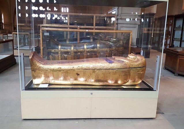 Sarcophagi of Yuya and Tjuyu. Egyptian Museum (Cairo)