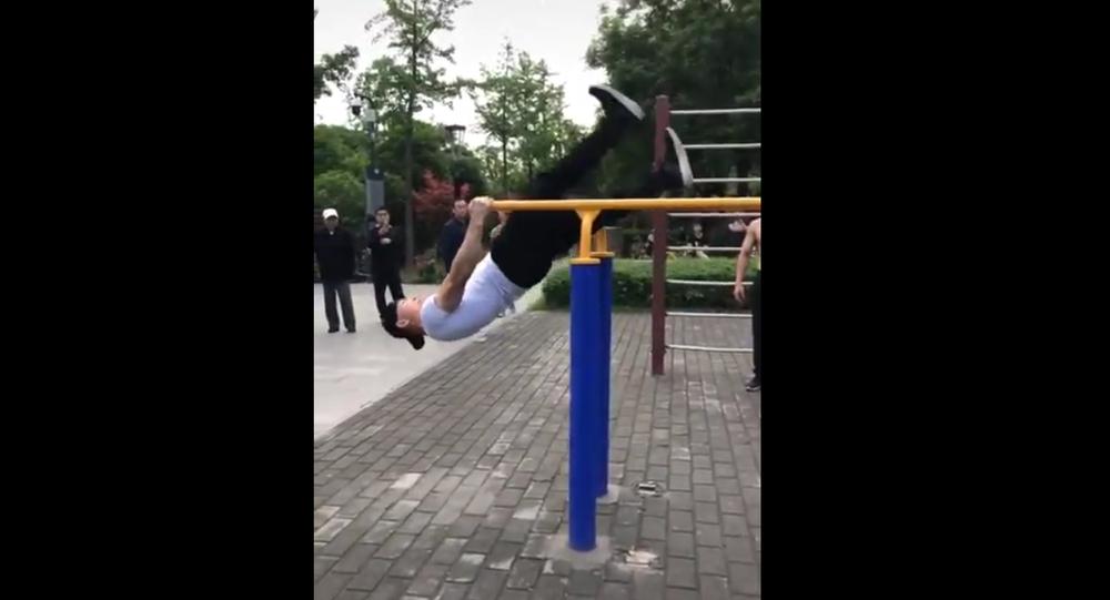 Man walks on air