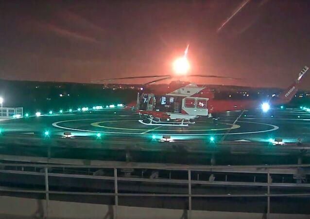 Meteor footage from RAH helipad