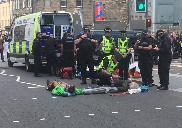Extinction Rebellion protests in Edinburgh