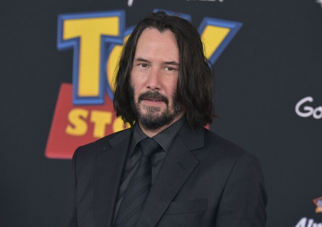 Keanu Reeves arrives at the world premiere of Toy Story 4 on Tuesday, June 11, 2019, at the El Capitan in Los Angeles