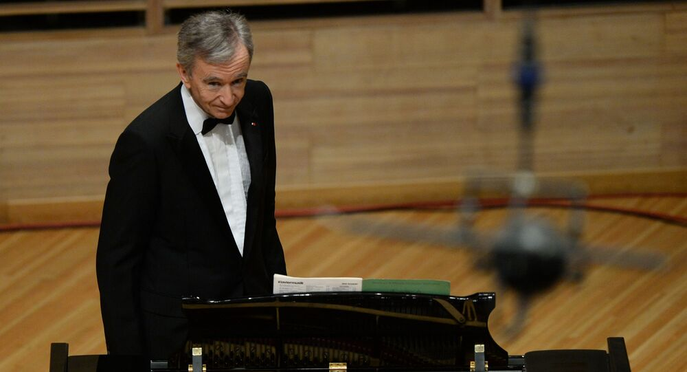 LVMH CEO Bernard Arnault at a concert in Moscow, file photo.