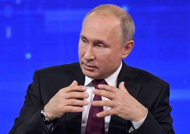 Russia Putin Nationwide Call-in