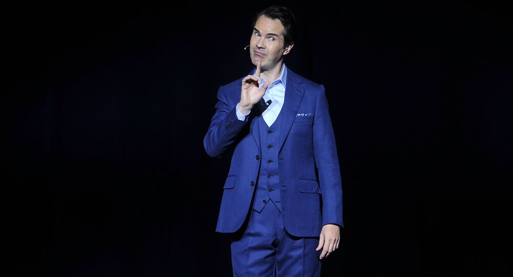 Jimmy Carr attends the 12th annual Stand Up For Heroes benefit concert at the Hulu Theater at Madison Square Garden on Monday, Nov. 5, 2018, in New York