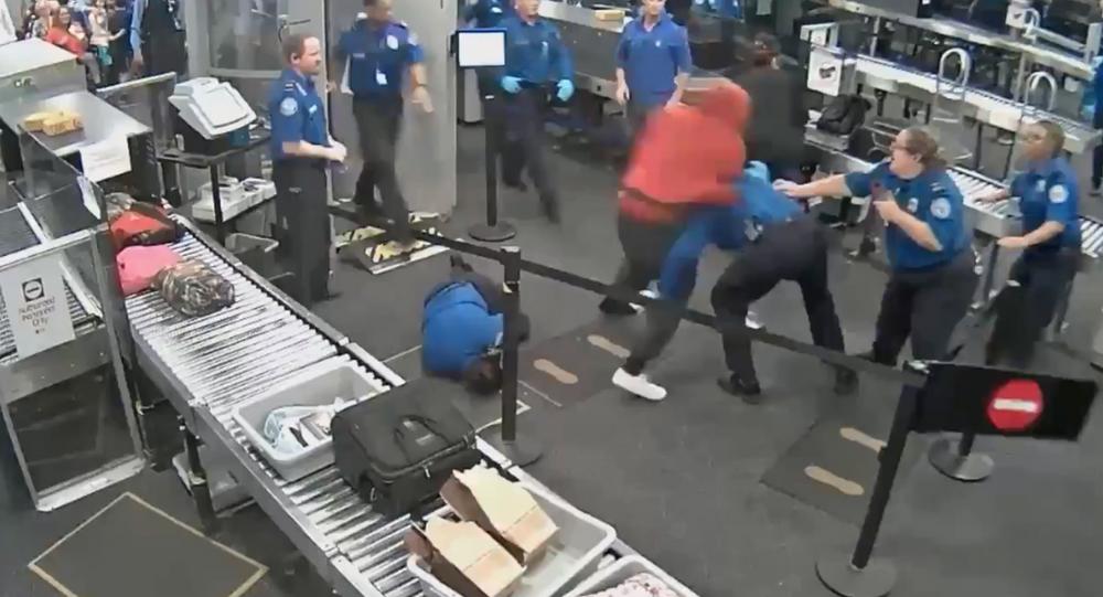 Newly released surveillance footage shows 19-year-old Tyrese Garner tackling several TSA agents at Arizona's Phoenix Sky Harbor International Airport.