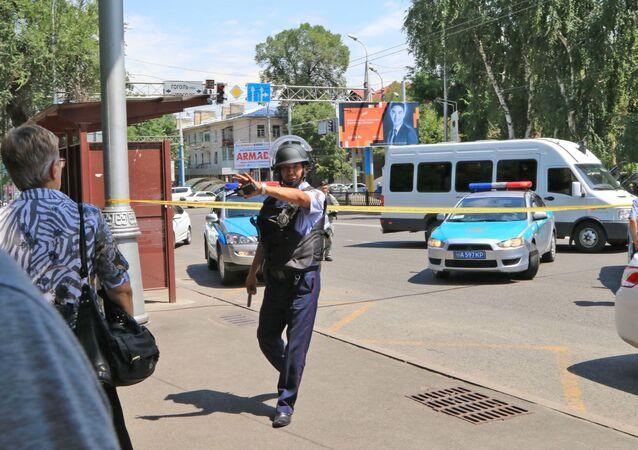 Kazakhstan police officer (File)