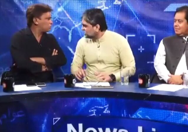 The video from a live TV debate shows an official from Prime Minister Imran Khan's PTI party physically attacking a senior journalist, the president of the Karachi Press Club