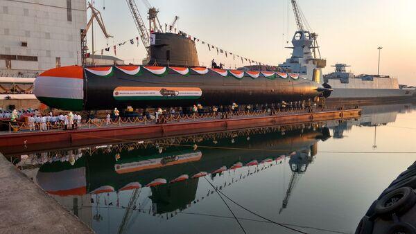 Kalvari-class submarine Khanderi, built by Mazagon and DCNS for the Indian Navy - Sputnik International
