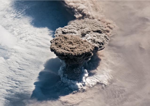 Raikoke Volcano's Eruption Captured from Space