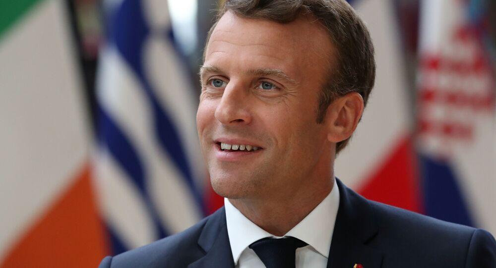 French President Emmanuel Macron arrives for the European Union leaders summit in Brussels, Belgium, June 20, 2019