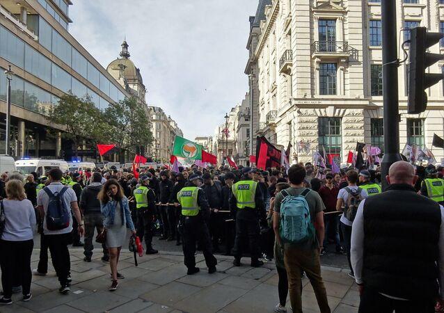 Antifa Protest March. London  (File)
