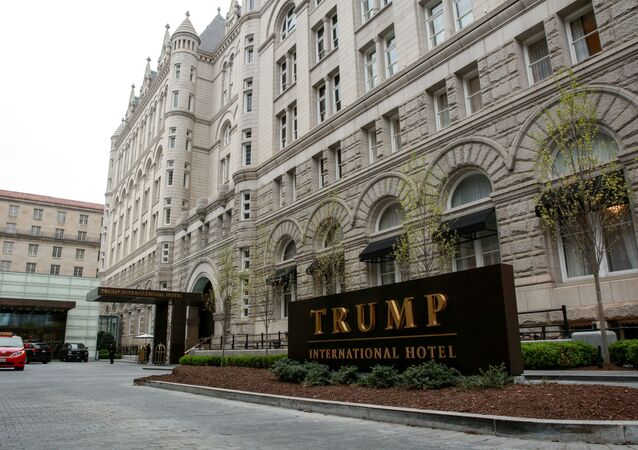 A general view of the Trump International Hotel seen in Washington, U.S., April 18, 2019