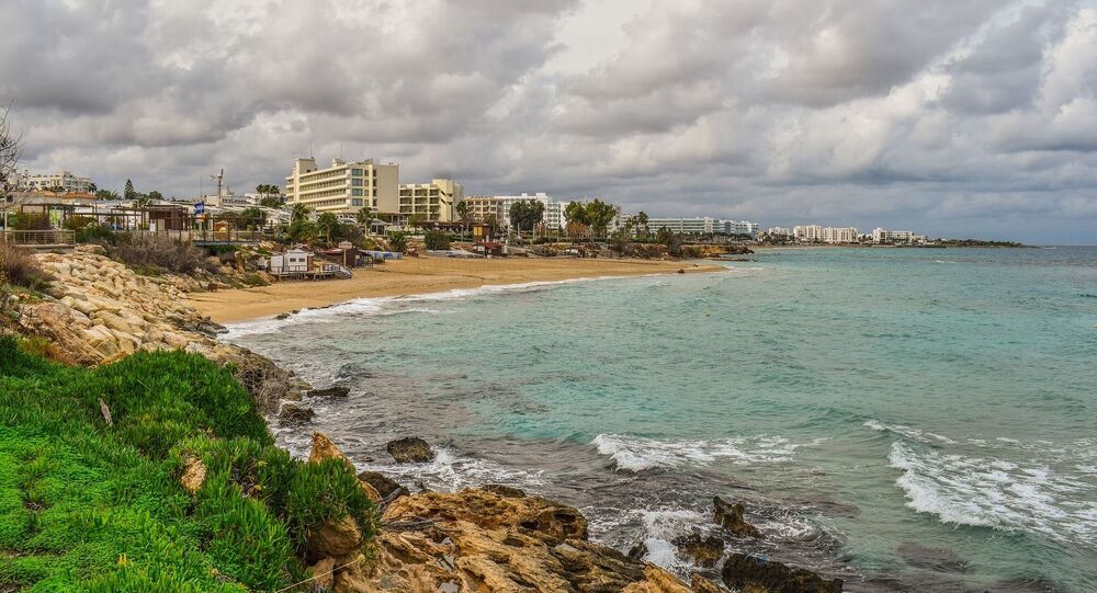 Beach, coast of Protaras, Cyprus