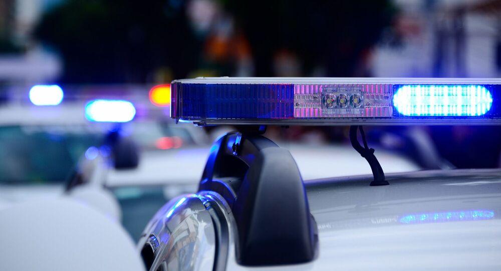 Police car, lights